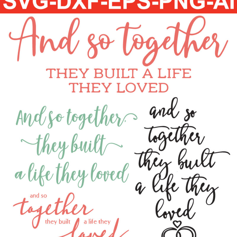 and so together SVG  files for Silhouette Cameo and Cricut.