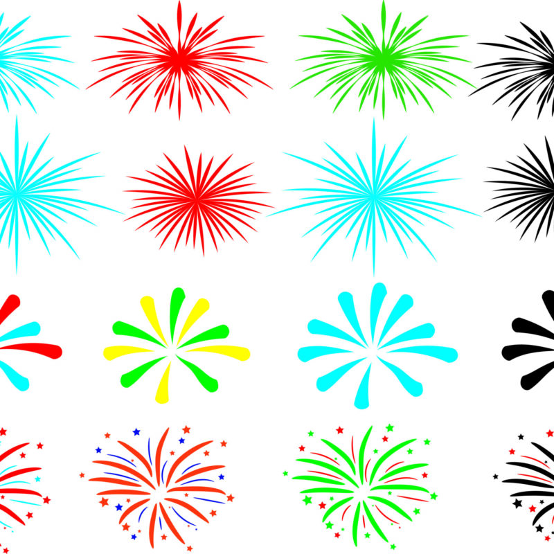 Fireworks SVG, 4th of July Svg, Independence Day Svg, Fireworks SVG files for Silhouette Cameo and Cricut.