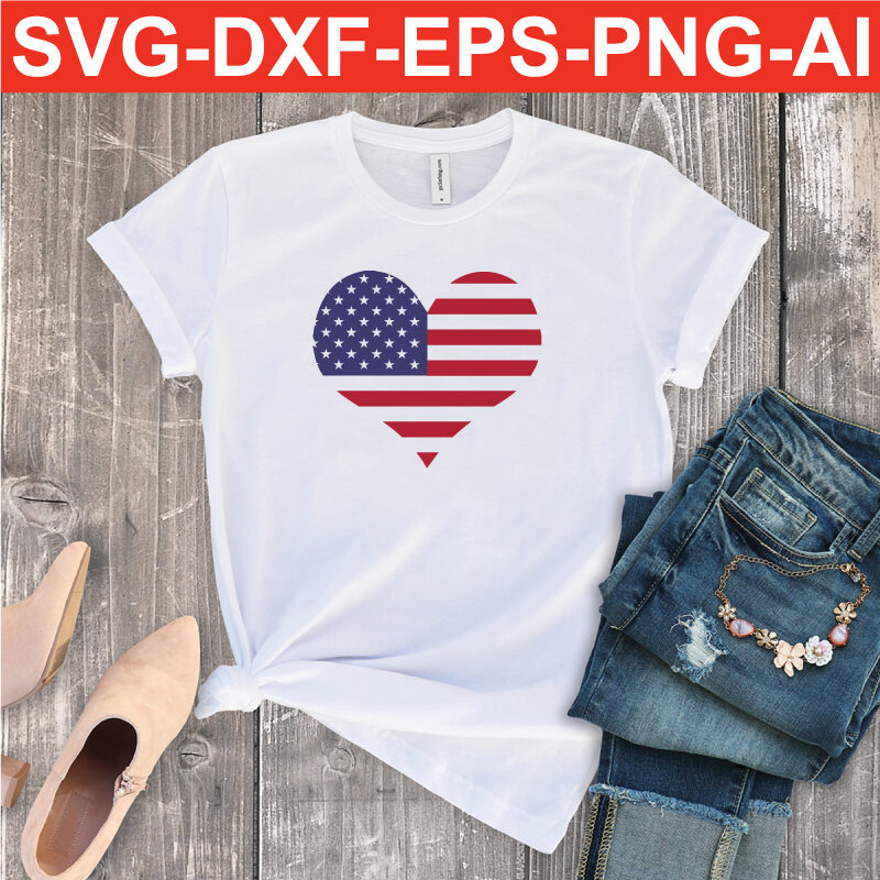 American Flag SVG PNG EPS DXF AI Silhouette