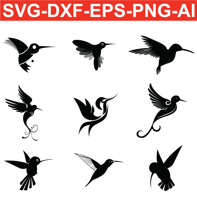 hummingbird svg free png ai eps dxf silhouette