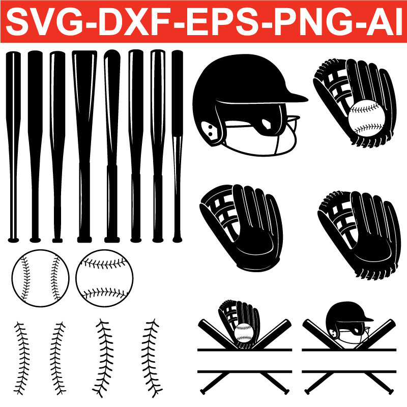 Baseball SVG PNG EPS DXF AI Silhouette