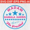 Madam vice president kamala harris SVG PNG EPS DXF AI Silhouette download Cricut craft Cameo.