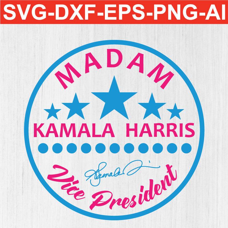 Madam vice president kamala harris SVG PNG EPS DXF AI Silhouette