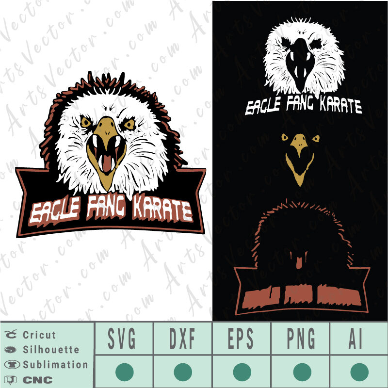 Eagle fang karate logo PNG SVG EPS AI DXF
