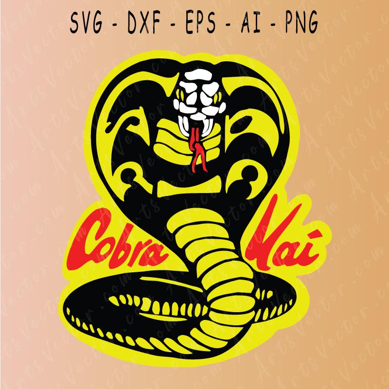 Cobra kai logo karate kid SVG EPS DXF PNG AI