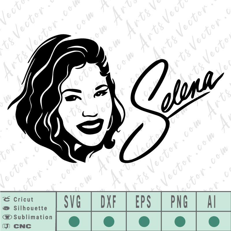 Selena Quintanilla free SVG EPS DXF PNG AI Instant Download