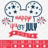 Happy 4th of July Disney Ears SVG