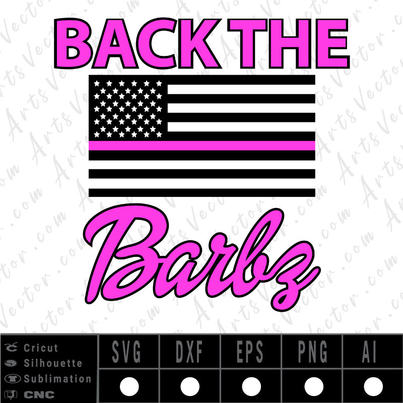 Back the barbz layered SVG EPS DXF PNG AI Instant Download