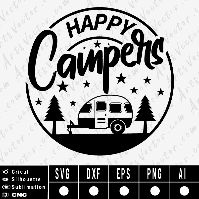 Happy Camper camping SVG