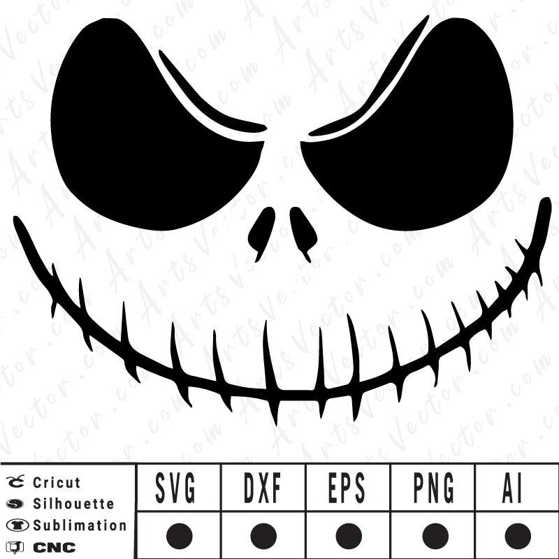 Jack skellington SVG EPS DXF PNG AI Instant Download