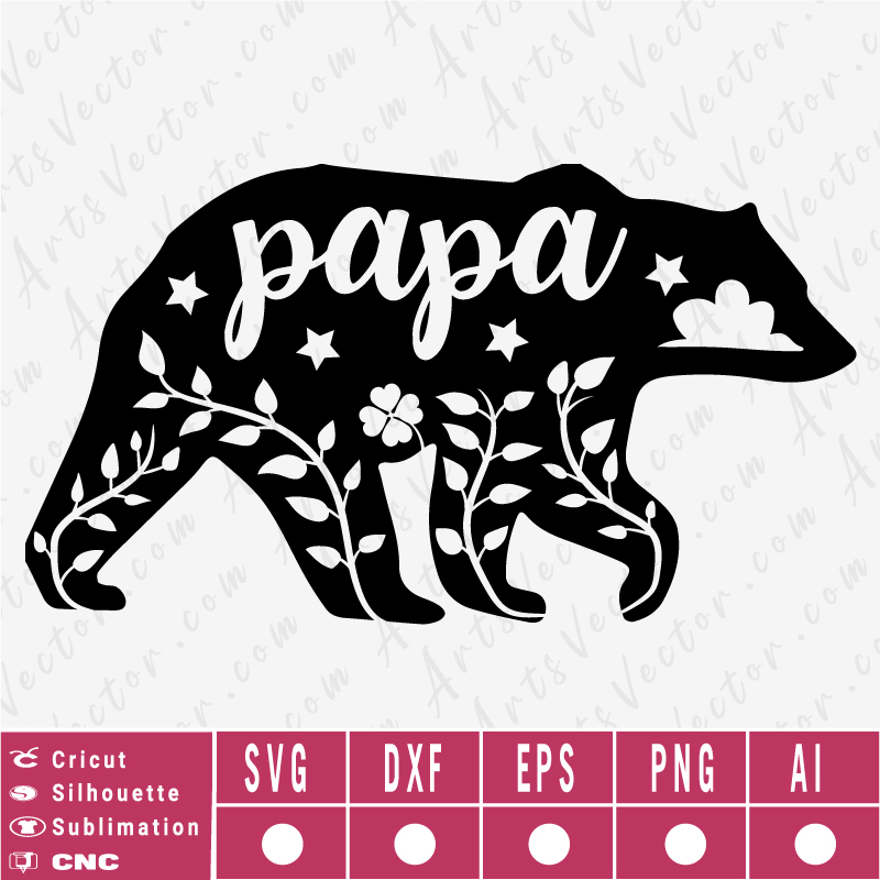 Papa Bear Silhouette SVG