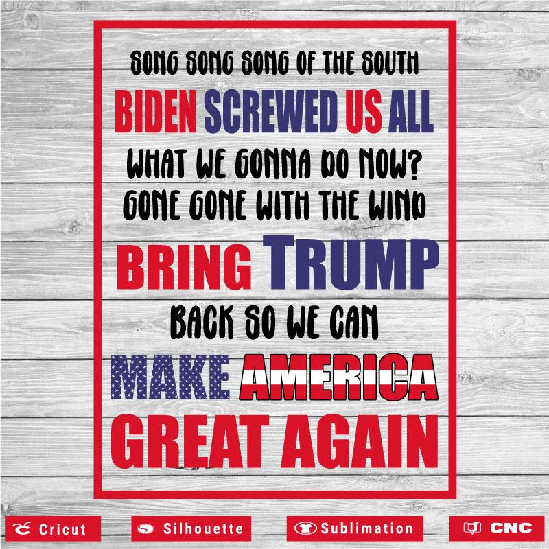 Bring Trump Back So We Can Make America Great Again SVG PNG EPS DXF AI Anti Biden