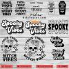 thick thighs and spooky vibes Bundle SVG PNG